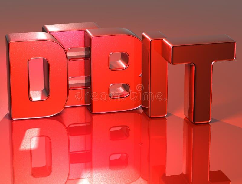debe de la palabra 3D en fondo rojo libre illustration