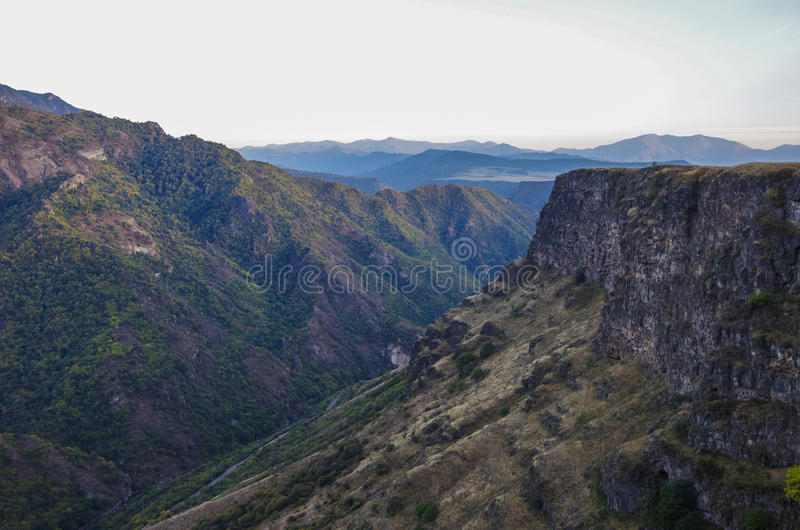 The Debed river canyon. Armenia stock image