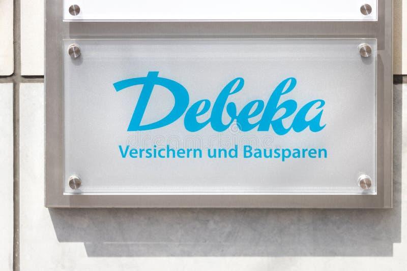 Debeka-Schild in Hagen - Deutschland stockfotografie
