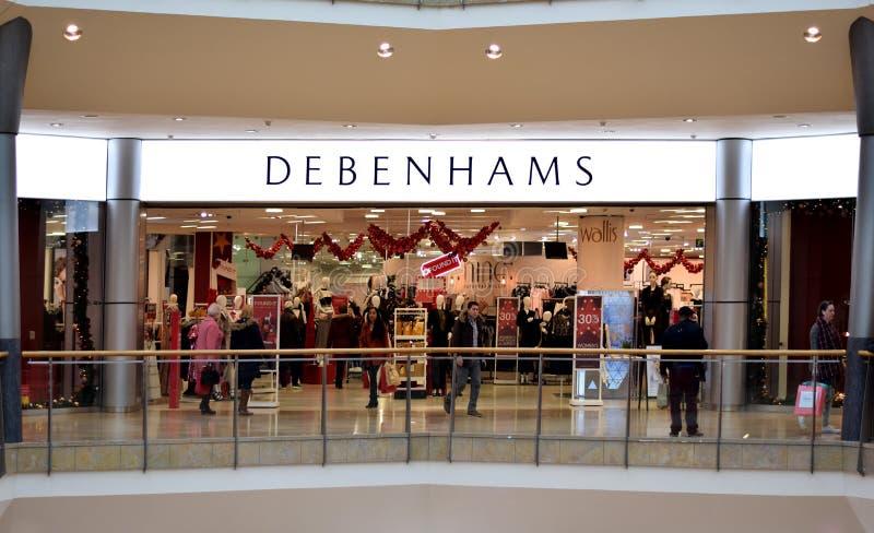 Debenhams商店在公牛圆环购物中心在伯明翰,英国 库存图片