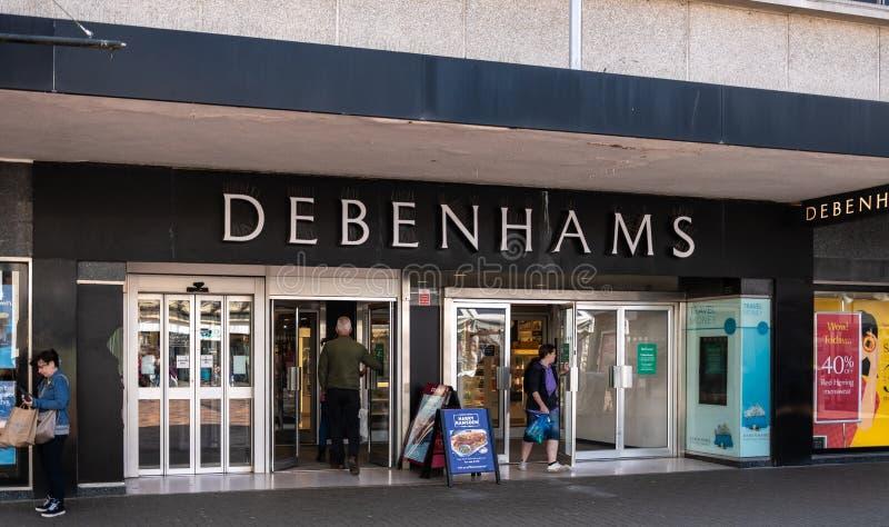 Debenhams商店正面 库存照片