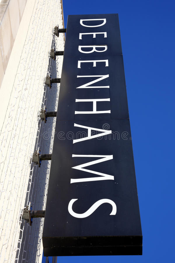 Debenhams loga znak fotografia royalty free