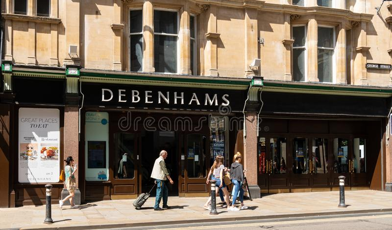 Debenhams sklep Oxford zdjęcia royalty free