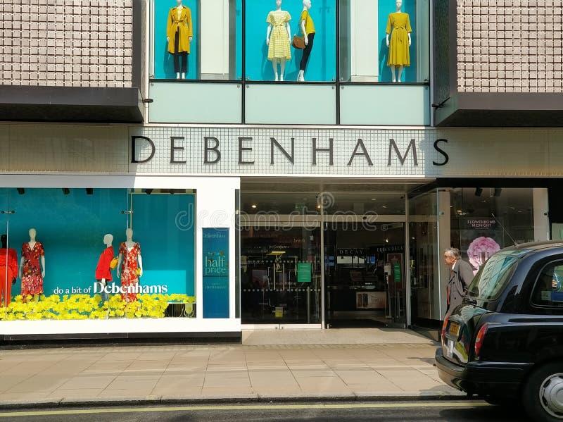 Debenhams spada w administrację zdjęcie royalty free