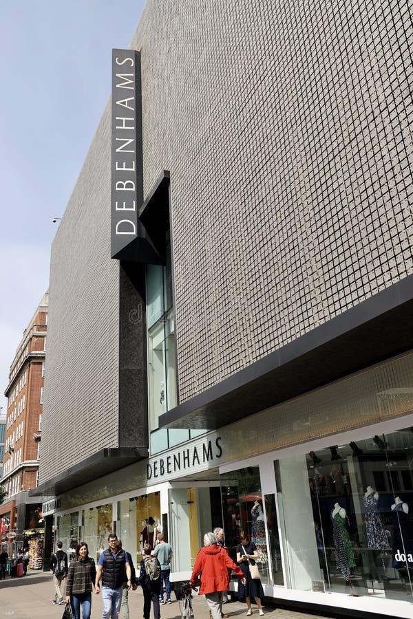 Debenhams statku flagowego sklep w Oxford ulicie, Londyn obraz royalty free