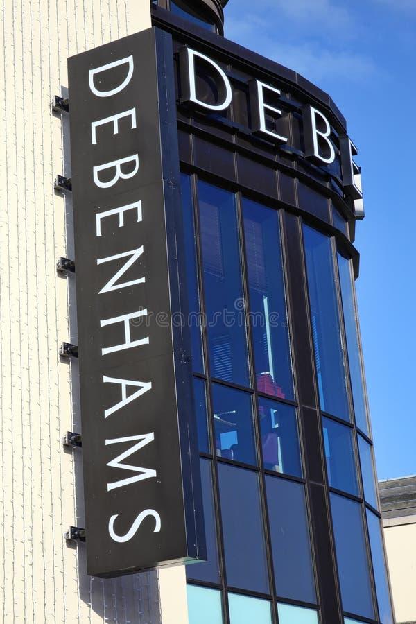 Debenhams wydziałowy sklep obraz royalty free