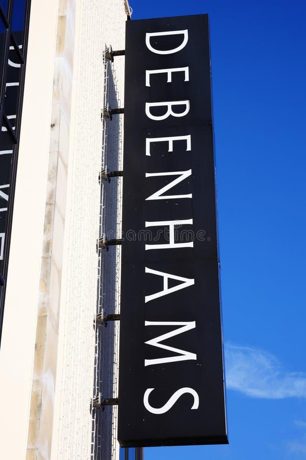 Debenhams znak zdjęcie stock
