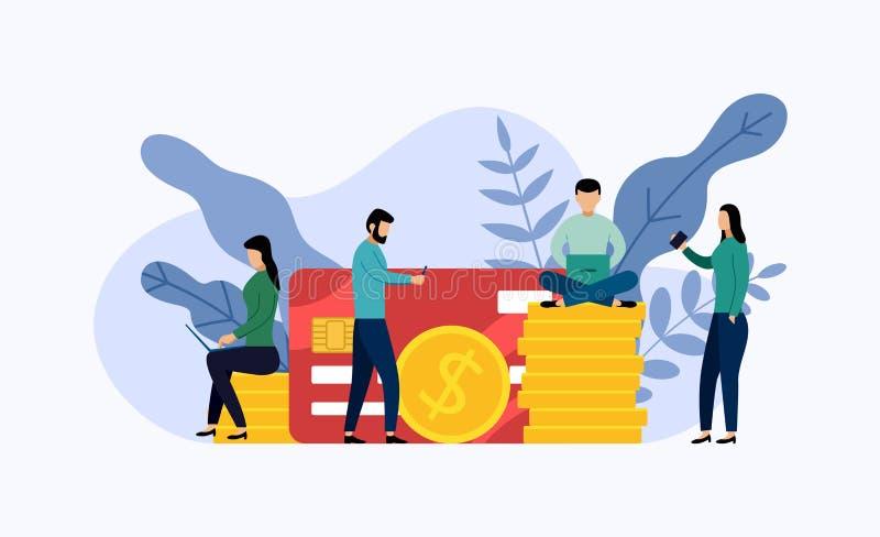 Debet of creditcardbetaling royalty-vrije illustratie