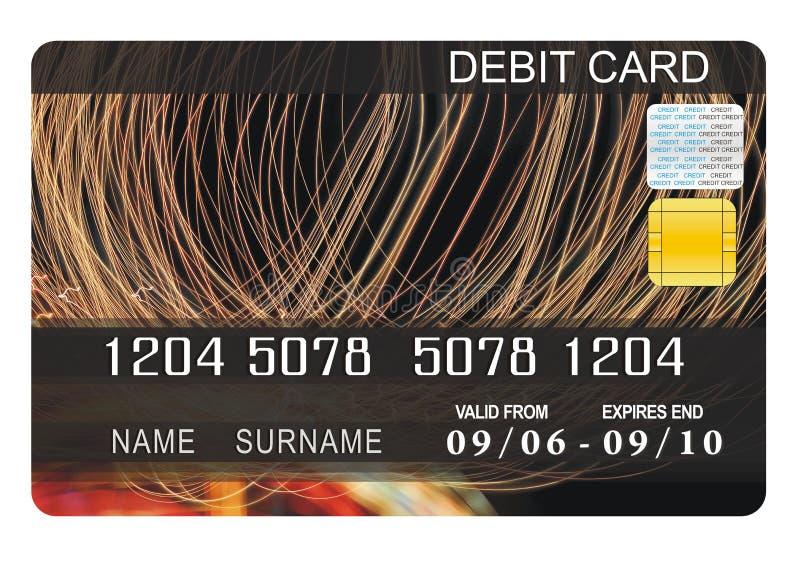 Debit card. Illustration of debit card looking great