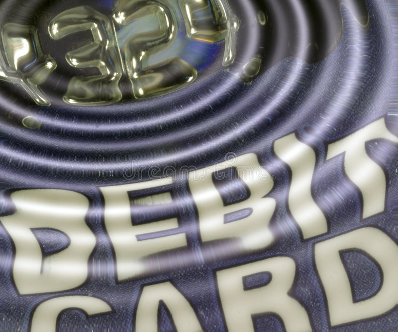 Debit card ripples stock illustration