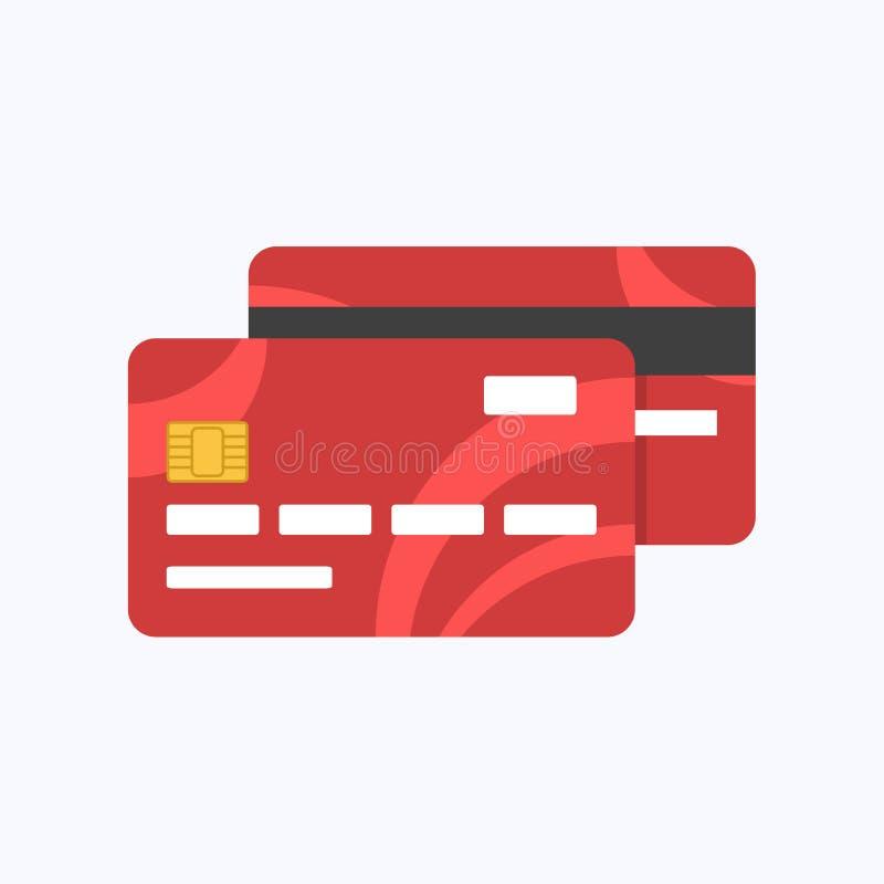 Debitering eller kreditkortbetalning stock illustrationer