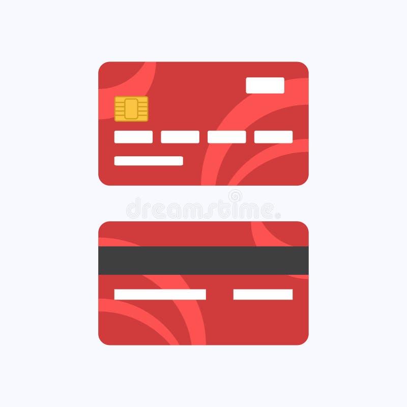 Debitering eller kreditkortbetalning vektor illustrationer