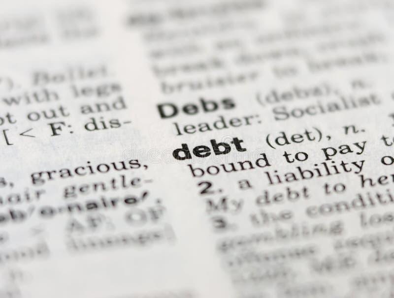 Debito immagine stock