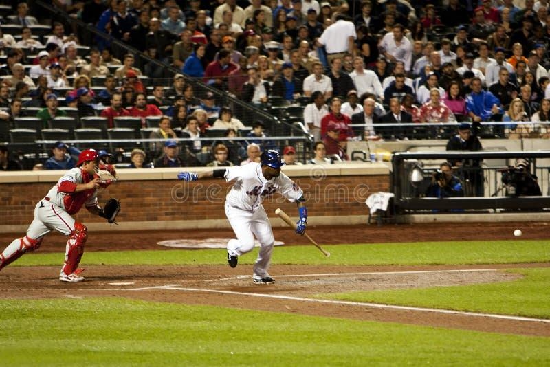 Debitore di baseball di Johan Santana - di Mets immagini stock libere da diritti