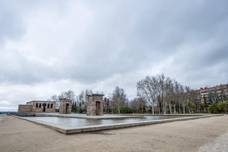debod寺庙在马德里,西班牙.