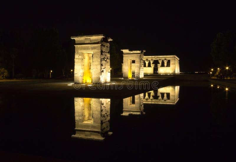 Debod's Temple at night royalty free stock photos