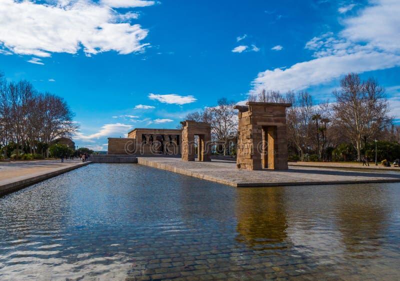 Debod-Tempel am Westpark in Madrid - Templo de Debod lizenzfreies stockfoto