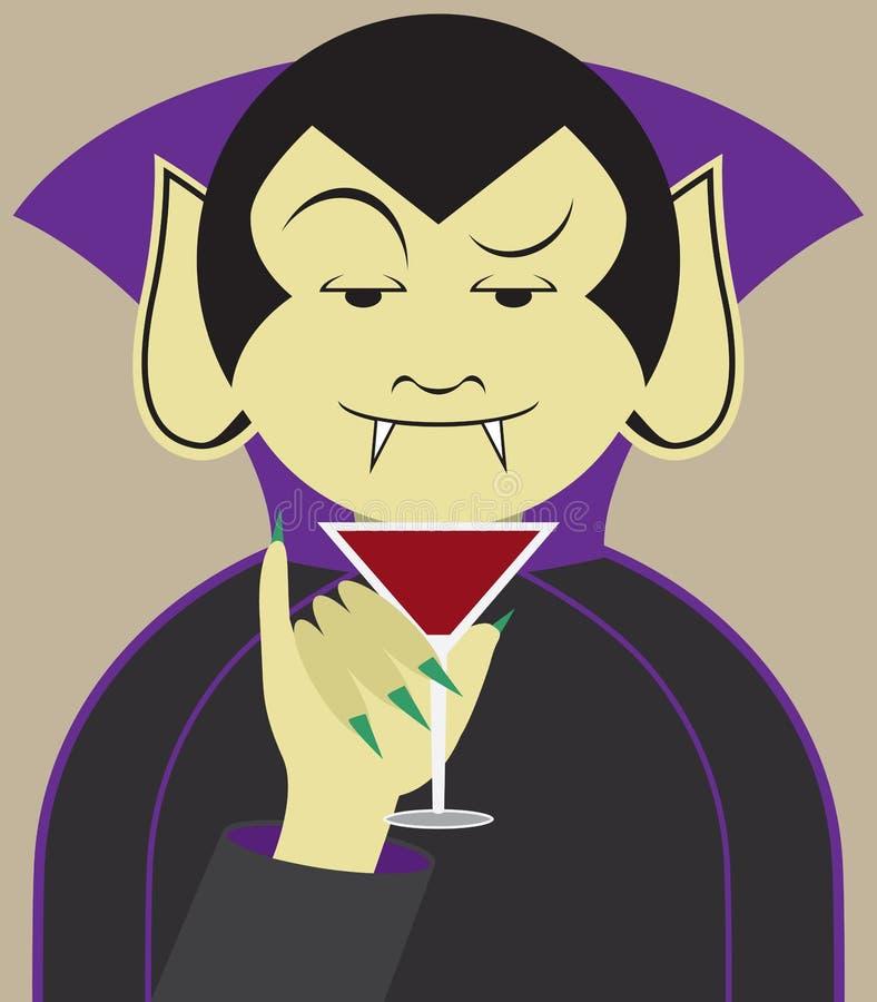 Debonair wampir royalty ilustracja