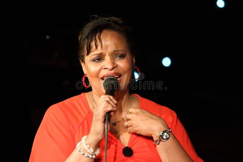 Deborah J. Carter ha eseguito nel club del VIP di Zagabria fotografie stock