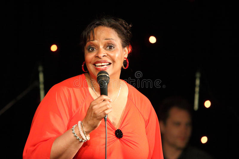Deborah J. Carter performed in Zagreb's VIP club stock image