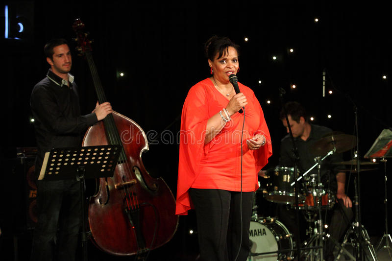 Deborah J. Carter performed in Zagreb's VIP club royalty free stock photos