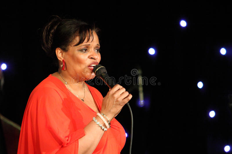 Deborah J. Carter performed in Zagreb's VIP club stock photo