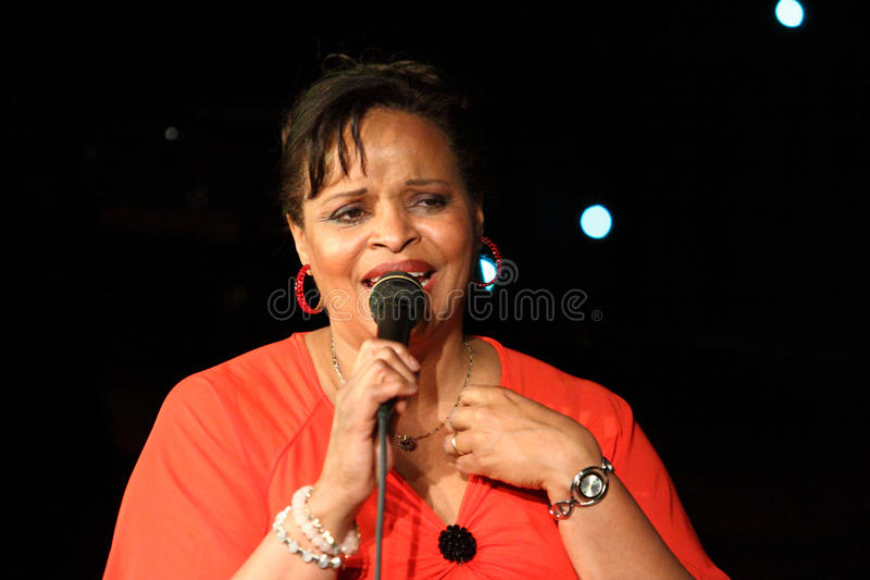 Deborah J. Carter performed in Zagreb's VIP club stock photos