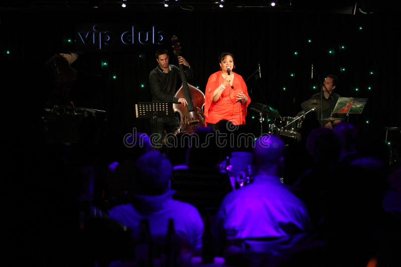 Deborah J. Carter performed in Zagreb's VIP club royalty free stock photo