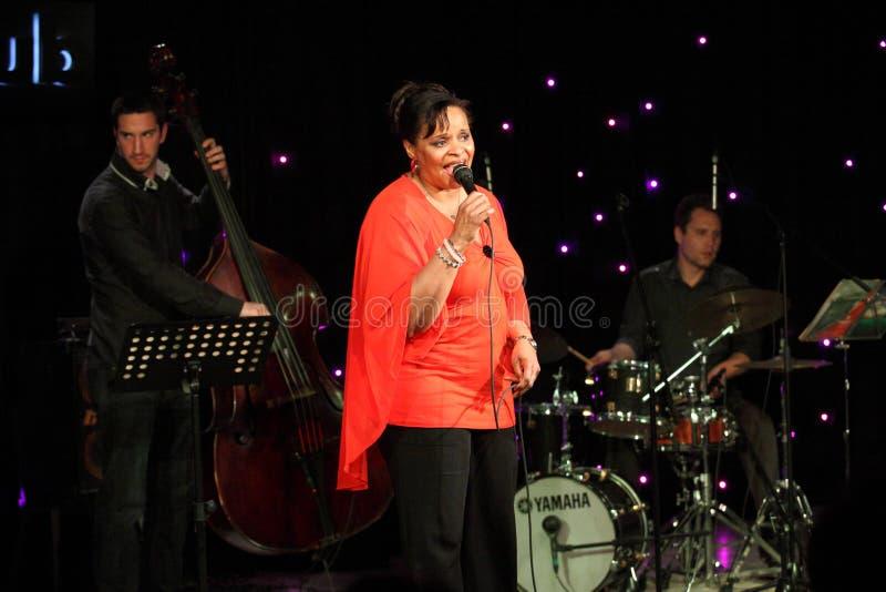 Deborah J. Carter se realizó en el club del VIP de Zagreb foto de archivo