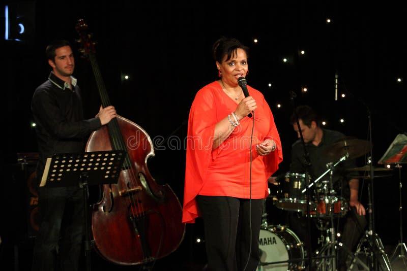 Deborah J. Carter wykonujący w Zagreb VIP klubie zdjęcia royalty free