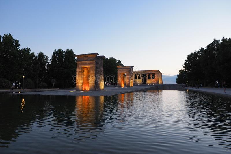 Debot Мадрид Templo стоковое изображение rf