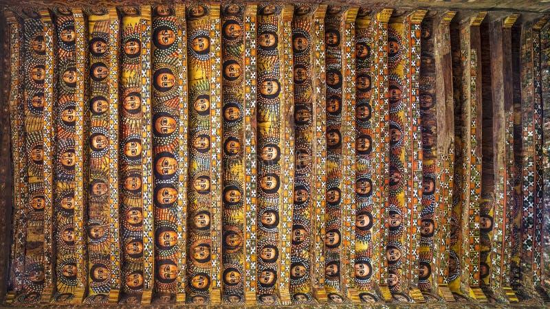 Debre Birhan Selassie kyrka, Gondar fotografering för bildbyråer