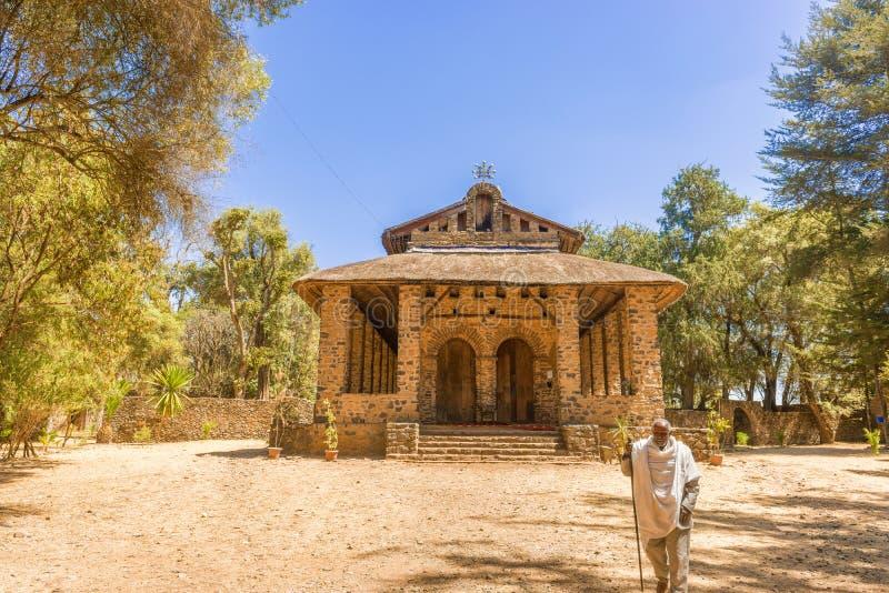 Debre Birhan Selassie kyrka i Gondar, Etiopien royaltyfria foton