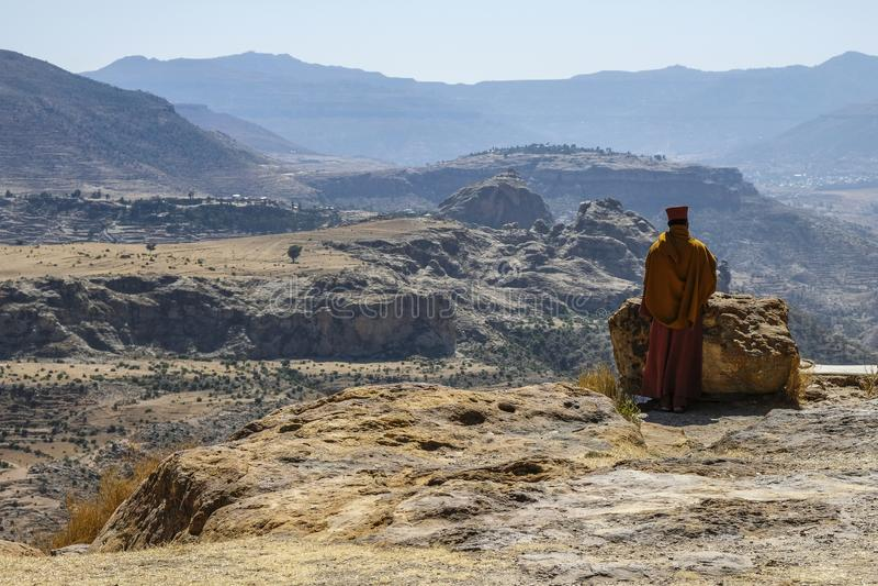 Debre Damo i Tigray, Etiopien royaltyfri fotografi