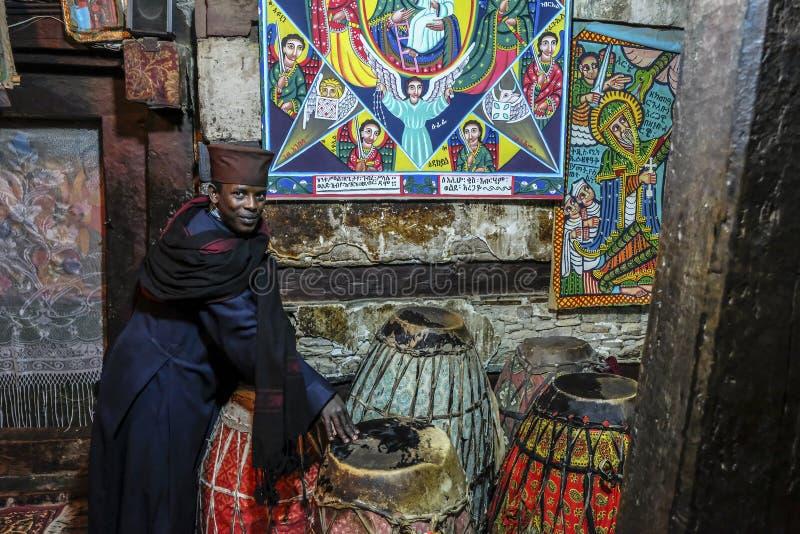 Debre Damo in Tigray, Etiopia fotografia stock libera da diritti