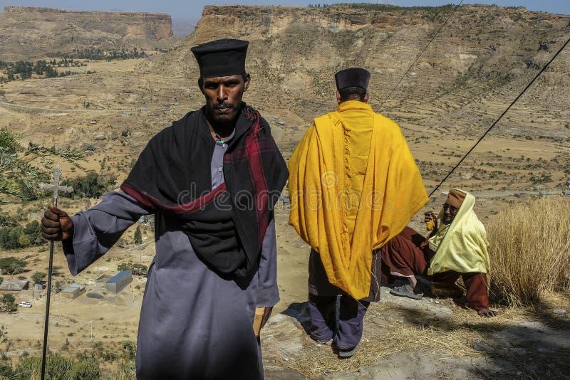 Debre Damo in Tigray, Etiopia fotografie stock