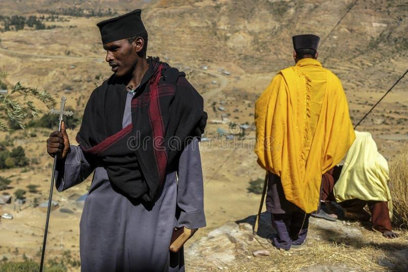 Debre Damo in Tigray, Etiopia fotografia stock