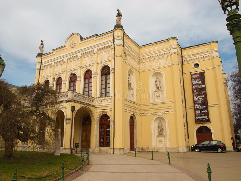 Download Debrecen Csokonai Theatre stock photo. Image of csokonai - 16183034