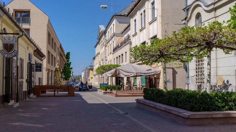 Debrecen, Hungary, view of the city and the streets, a popular destination for travel to Eastern Europe stock photos