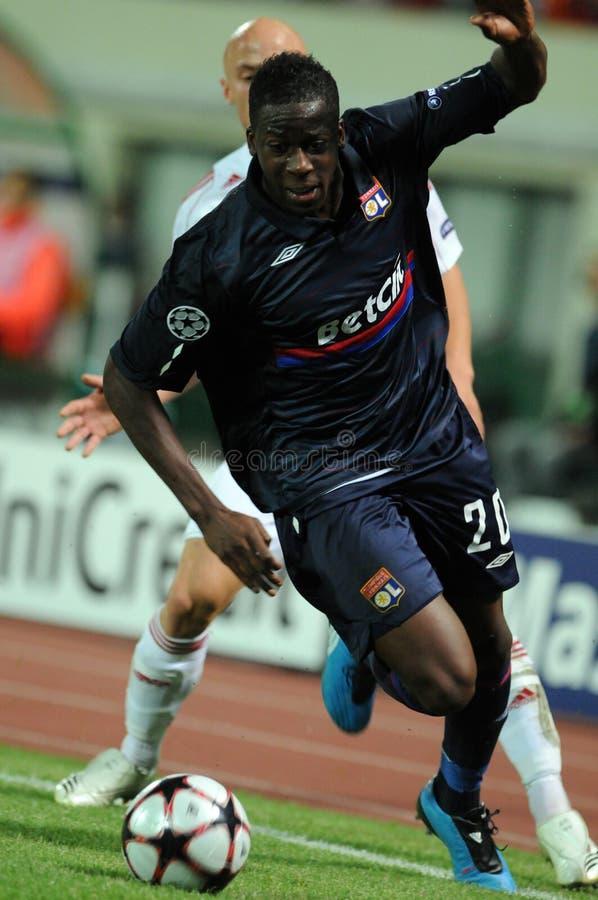 Debrecen - Lyon UEFA Champions League match stock photography