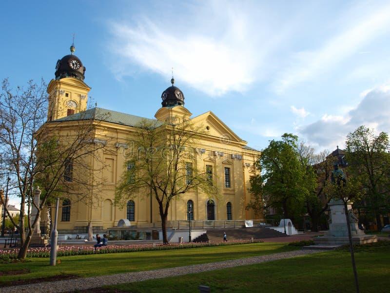 Debrecen storekyrka arkivbilder