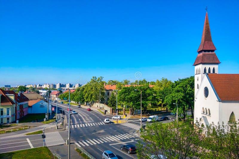 Debrecen Węgry, Maj, - 14, 2019: Reformowany kościół na jasnym słonecznym dniu zdjęcia royalty free