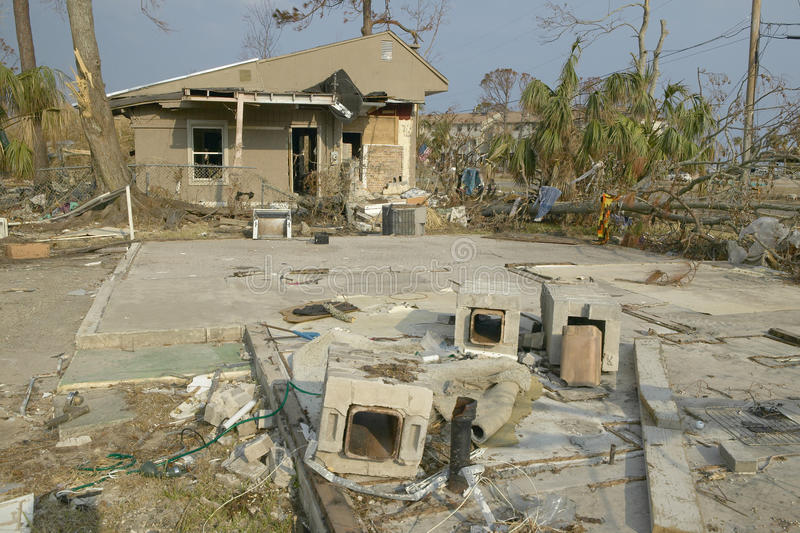 Download Debris In Front Of House Heavily Hit By Hurricane Editorial Photography - Image: 26274022