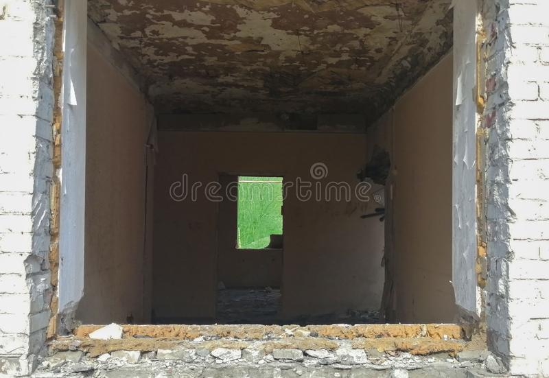 Debris of a living destroyed house royalty free stock photos