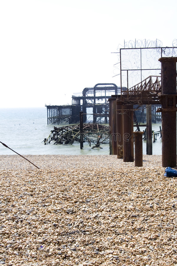 Download Debris Of The Old West Pier In Brighton Stock Image - Image: 773079