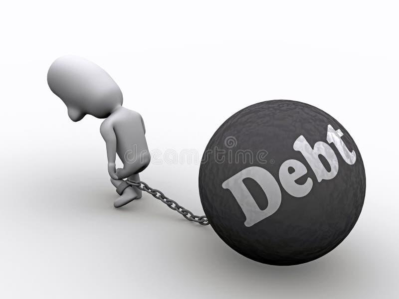 In Debt royalty free illustration