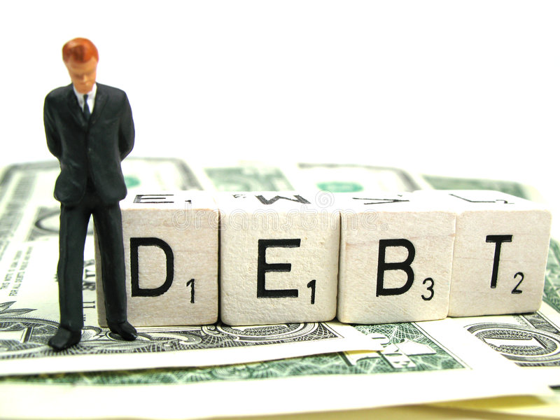 Debt royalty free stock image