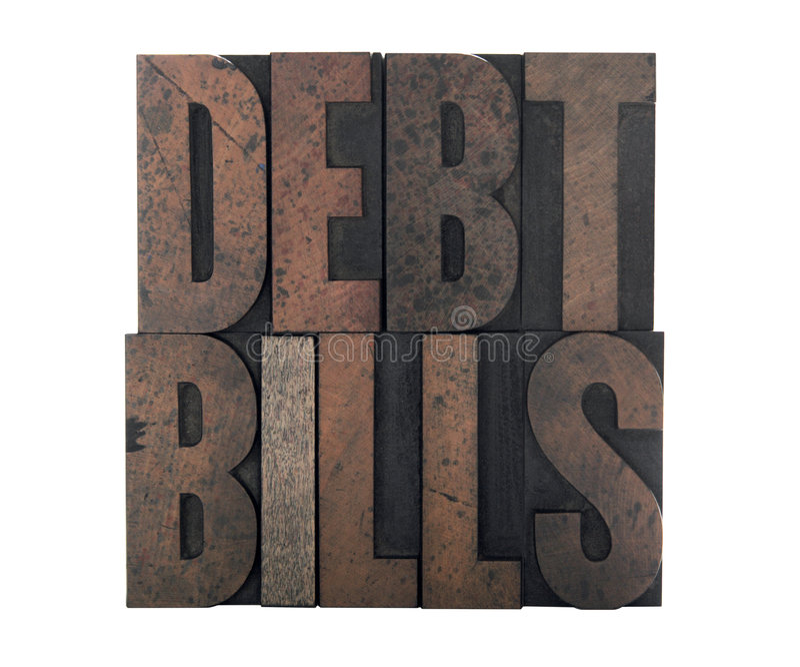 Download Debt Bills Royalty Free Stock Photography - Image: 4613697