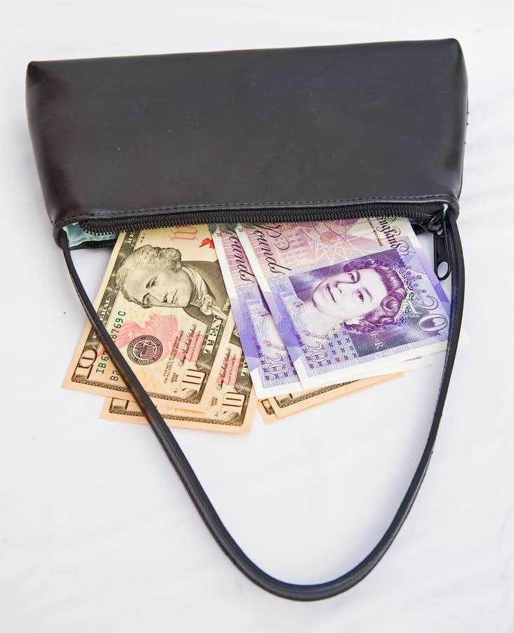 Debt collector's bag. stock photo