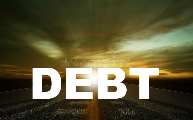 Debt Concept Background stock photo